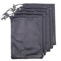 Set of 5 Nylon Mesh Storage Ditty Bag Stuff Sack for Travel   Outdoor Activity