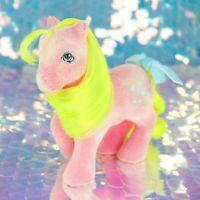 Vintage My Little Pony SHADY So Soft Flocked Pink Yellow Sunglasses G1 MLP BA978