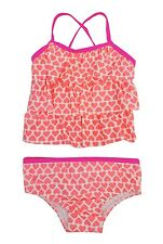 Carter's Pink 2-Pc. Tiered Hearts Tankini Set Toddler Girls 12M, 4T