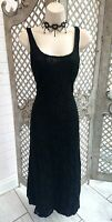 🌹CHARLOTTE HALTON🌹SHEER BLACK LACE WIGGLE COCKTAIL MAXI DRESS 14 CRUISE PARTY