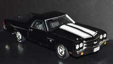 Ertl 1/18 Die Cast Car 1970 El Camino SS 396 Cowl Induction Black White Stripes