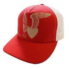 IRON FIST HEART WINGS MEN RED WHITE TRUCKER HAT (ONE SIZE)