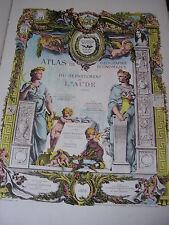 ATLAS GEO ÉCONOMIQUE DE L'AUDE par Durand et Khanzadian 53 cartes couleurs 1928