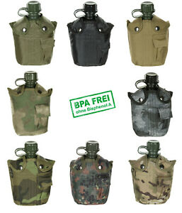 Feldflasche 1L Bundeswehr US Army Trinkflasche Nylonbezug Prepping Outdoor
