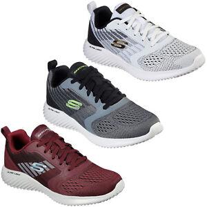 Skechers Mens Sports Trainers Bounder - Verkona Gym Running Training Mesh Shoes