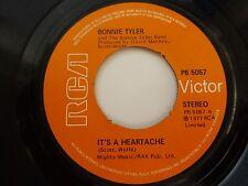 """BONNIE TYLER - IT'S A HEARTACHE, 1977 7"""" VINYL SINGLE. PB 5057."""