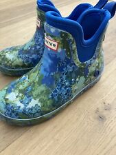 Hunter for Target Abstract Print Waterproof Short Rain Boots sz 12 Used