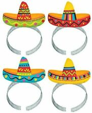 Mexican Fiesta Sombero Party Headbands Hats Party Dress Up For 8 Guests