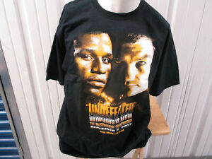 VINTAGE FLOYD MAYWEATHER VS. RICKY HATTON UNDEFEATED 2007 XL T-SHIRT BOXING