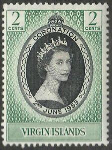 BRITISH VIRGIN ISLANDS 1953 SG148 CORONATION MNH