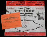 Disneyland Pike Petrified Forest Tree Frontierland 1956 Lillian & Walt Disney