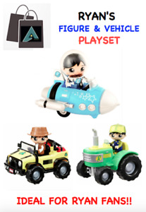 ✅ NEW Ryan's Figure & Vehicle Playset (3 Variations) Pull Back Action  ✅