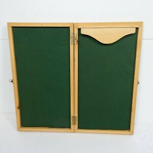 60cm Vintage Folding Game Board Green Fabric Lined Card Table Top Mat Poker Z1T