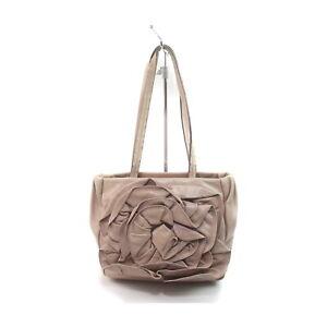 Yves Saint Laurent Shoulder Bag Flower Tote Bag Pinks Leather 1727172