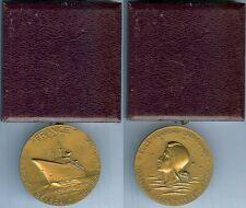 Médaille de table - Paquebot FRANCE Cie générale transatlantique avec boîte
