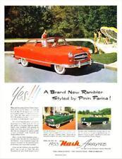 Print.  1953 Nash Rambler Convertible Auto Advertisement