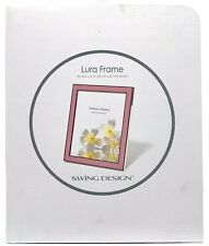 Swing Design Light Pink Enameled 8 In X 10 In Picture Photo Frame