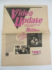 """PEACHES Music & Video 1987 Video Update Newpaper print, 16 pages approx 11.5x15"""""""