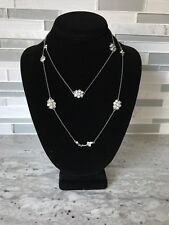 Juicy Couture Chain Necklace Floral With Rhinestones NWT