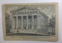 Trade Card L H Johnson Practical Horse Shoer State House New Haven P183