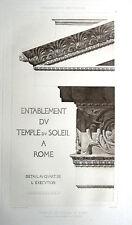 62 ~ TEMPLE OF SOLIS INVICTUS SUN GOD Rome ~ 1905 Architecture Detail Art Print