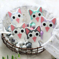 Cute Cat Chew Silicone Beads Teether Baby Teething Bracelet Stroller Rattle Toys