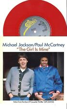 "#38 Michael Jackson The girl is mine (7"" Red Vinyl UK - 1983)"