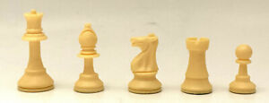 "3-1/2"" King - BONE/IVORY Colored Tournament Staunton Chess Pieces - INDIVIDUAL"