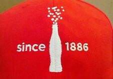 Coca Cola Since 1886 Coke Bottle Hat Cap Red NWOT New Without Tags