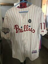 2009 World Series Phila Phillies #11 Rollins Jersey HK Patch 52