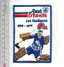 Beer WHA Hockey Quebec Nordiques & O'Keefe Beer 1976 - 77 Coloseum Promo Patch
