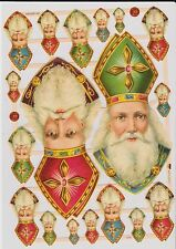 1 Bogen Glanzbilder Weihnachten, Weihnachtsmänner Nikolaus ef 7410 Nr.244