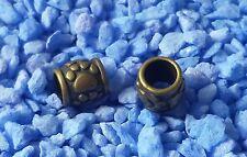 2 Pfote Hund Beads Großloch Perlen Paracord Armband Großlochperlen T07