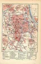 Antique map landkarte stadt Augsburg Deutschland 1902 karte