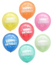 25 Pack Happy Birthday Premium Quality Balloons Assorted Colours