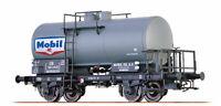 HO BRAWA wagon citerne MOBIL  neuf réf 48863