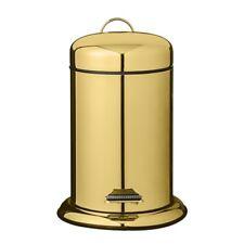 Bloomingville Gold Pedal Bin/Wastepaper Bin 3 Litres