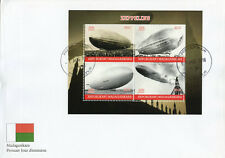 Madagascar 2018 FDC Zeppelins Zeppelin 4v M/S Cover Airships Aviation Stamps
