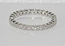 Sterling Silver 925 Sparkling Simulated Diamond Full Eternity Ring ~ All Sizes