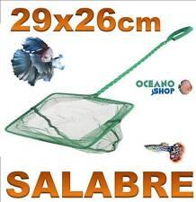 SALABRE 29x26CM GRANDE ACUARIO de malla RED Verde pecera peces mango tortuguera
