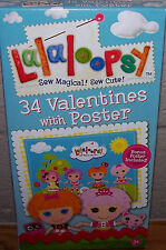 Valentines Day Cards (Box of 34) Lalaloopsy with Poster