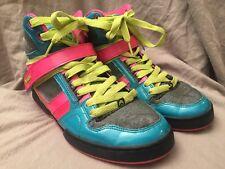 Osiris Size 9 Sneakers Bronx Slim Girls High Tops PInk Aqua Green Shoes Nice