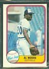 Al Woods Baseball Auto 1981 Fleer '81 Signature Autograph Signed Card #422