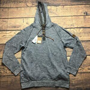 Salute Levelwear Mens Small New York Rangers Pullover Henley Hoodie Sweatshirt
