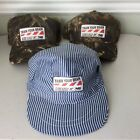 Train Your Brain Norfolk Southern NS Mossy Oak & Conductors Hat Lot 3 New & chil