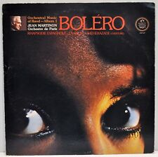 RAVEL - BOLERO  Jean Martinon  Orchestre de Paris   Vinyl LP  Angel S-37147