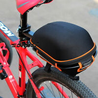Black Sport Bike Alloy Rear Rack Carrier Seatpost Pannier Pack Frame Bicycle Bag