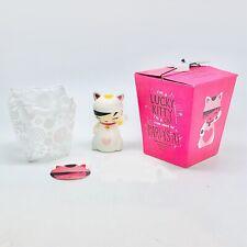 Momiji Doll LUCKY KITTY 2011 W/ Box, Sticker, Puffy, message maneki neko style