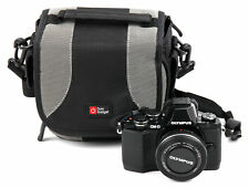 Black/Silver Case for Olympus OM-D E-M10 w/ Free Cleaning Cloth