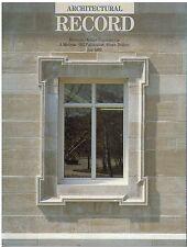 rivista - THE ARCHITECTURAL RECORD ANNO 1989 LUGLIO